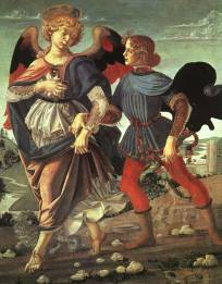 The Archangel Raphael escorts Tobias to Media