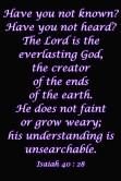 Isaiah 40 28