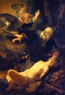Angel stops Abraham