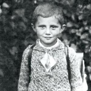 Pope Benedict as a boy