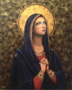 Mary Mother of Sorrow Painting